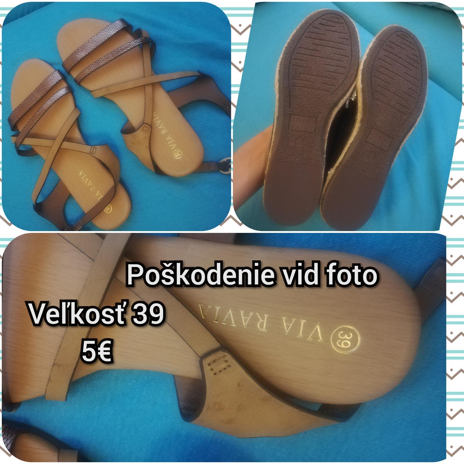 Hnedé sandále - Obrázok č. 1