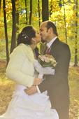 svatební šaty+doplňky k šatům, 38