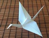Origami jeřáb,