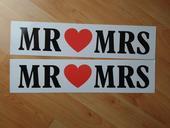Ceduľky na značky mr&mrs,