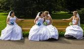 prodávám oboje svatební šaty, 48