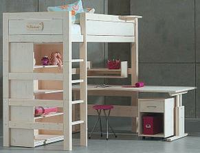 Sympatické tvary a detaily... príručný stolík pri hornej posteli by si mohlo osvojiť viac výrobcov