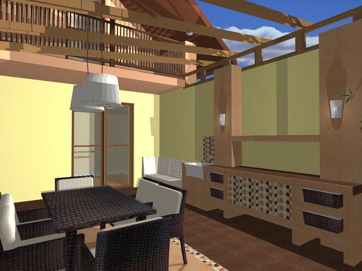 O verande (a spol) - oranžový variant s dlažbou Rako