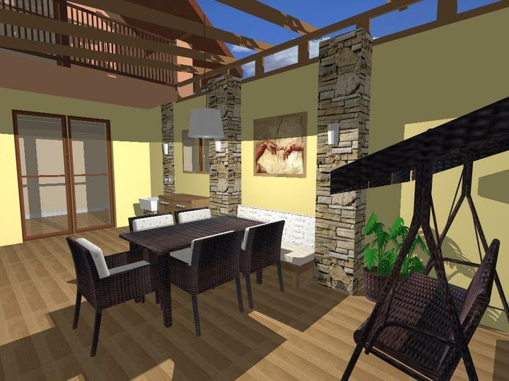 O verande (a spol) - kamenný variant s dlažbou woodentic