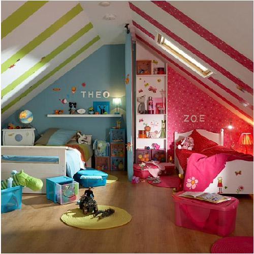 Detská izba pre dvoch - Ako si rozdeliť izbu: Theo a Zoe