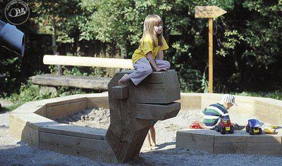 Detské ihriská - nápady - Had- pieskovisko... čosi také tam určite bude...