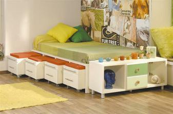 Skrinky- sedadlá pre priateľov pod posteľou