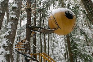 Vyskúšať sa dá vo Vancouveri v Kanade... bývať sa v nej dá až do -20°C, lebo je napojená na elektrickú sieť...