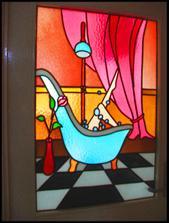 v kúpeľni- veselej