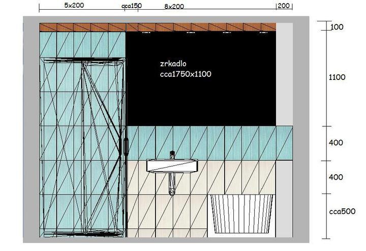 Kúpeľne - príklad kladačského plánika