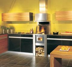 gril v celkom modernej kuchyni