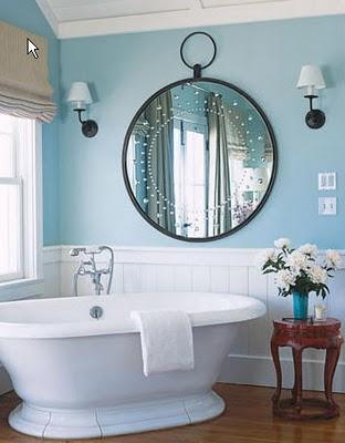 Vidiecke kúpeľne - Okrúhle detaily pôsobia útulne