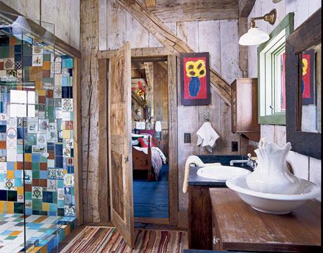 Vidiecke kúpeľne - Bláznivý obklad :-)