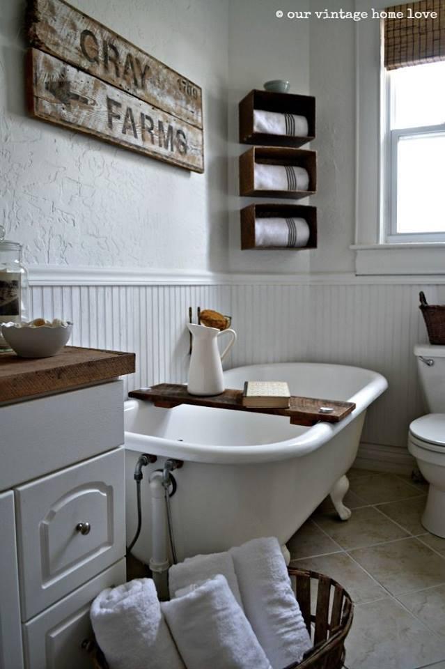 Vidiecke kúpeľne - alebo nápis