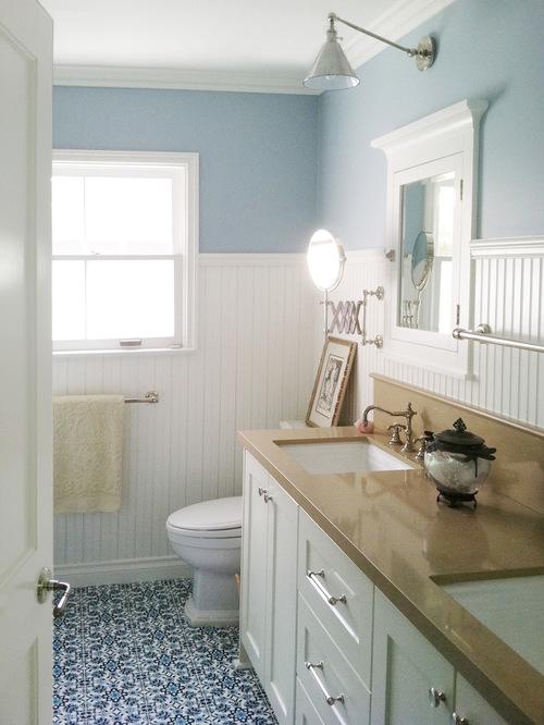 Vidiecke kúpeľne - Aj podlaha môže dodať trochu pestrosti
