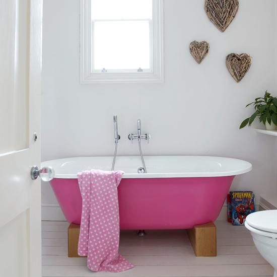 Vidiecke kúpeľne - Ružová je veselá :-)