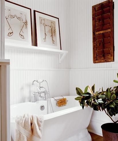 Vidiecke kúpeľne - Nejaký ten obrázok na stenu vždy pomôže dotvoriť dojem :-)