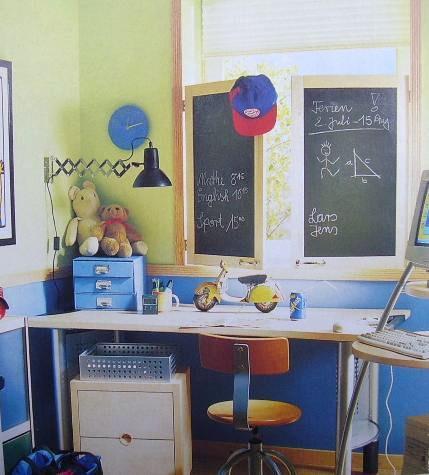 Detské izby  inšpirácie - Okenice ako tabuľa