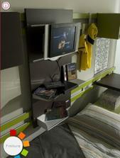unesie aj telku... len dieťa musí byť hypoaktívne, aby monitor nad posteľou prežil bez uhony...