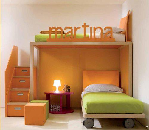 Detská izba pre dvoch - zaujímavá súčasť skladačky- čelá postelí prisposobené na sedenie a čítanie