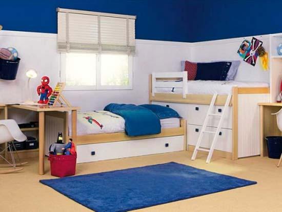 Detská izba pre dvoch - postele do L- jedna vyššie