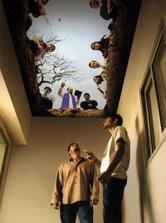 Kruté vymaľovanie stropu vo fajčiarskej miestnosti...výstražnejšie ako nápis na škatuľke cigariet...