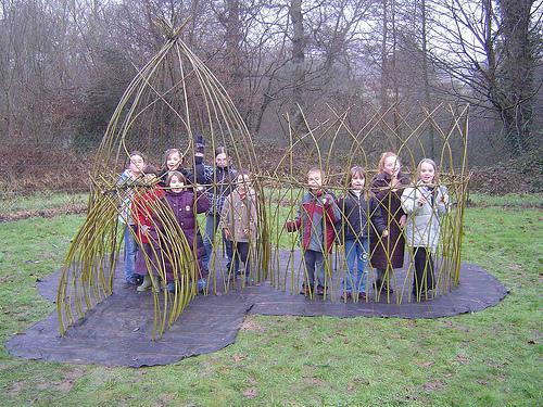 Detské ihriská - nápady - Zasadené mladé vrbky