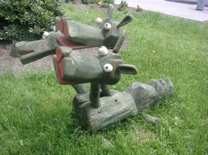 socha dráčika v ZOO
