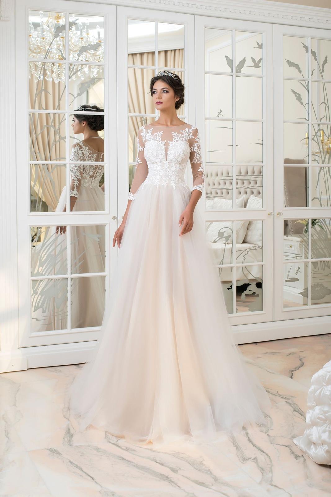 !!! Výpredaj nových nenosených svadobných šiat už od 350€ !!! - Monica, veľkosť 40