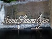 Jména novomanželů, výroba dle Vašich požadavků,