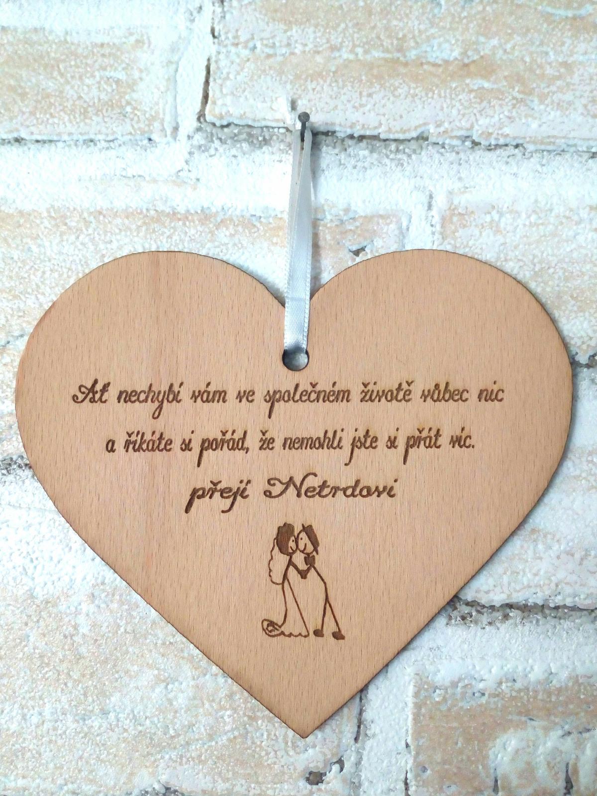 Srdce dárek pro novomanžele - Obrázek č. 1
