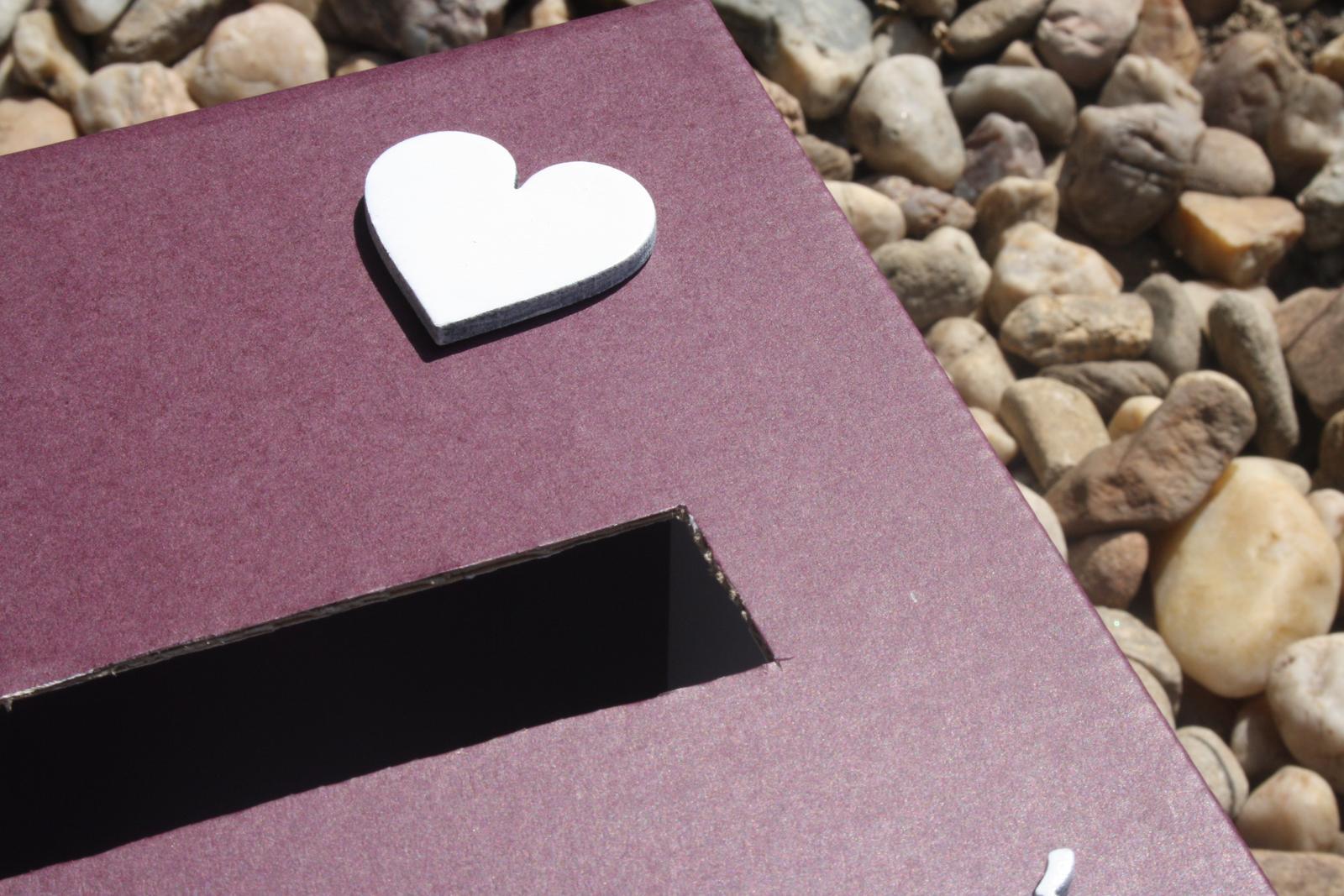Truhla na svatební přání - fialová - Obrázek č. 3