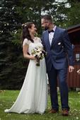 Svatební šaty vel. 34-38 barvy ivory, 34