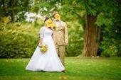 svatební šaty s rukávy na malou postavu, 40