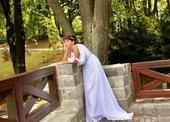 Antické svatební šaty vel. 36 s vlečkou, 36