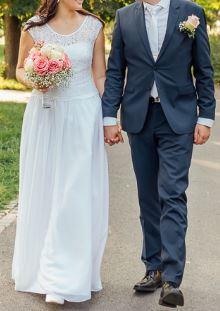 Svatební šaty vel. 38 - 40 - Obrázek č. 2
