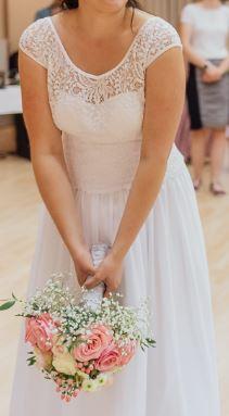 Svatební šaty vel. 38 - 40 - Obrázek č. 3