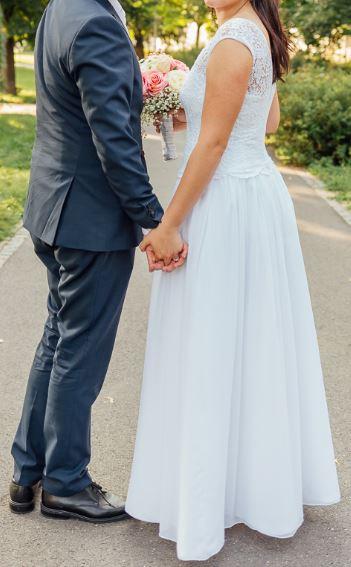 Svatební šaty vel. 38 - 40 - Obrázek č. 1