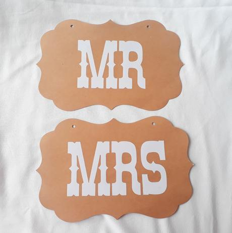 Cedulky Mr & Mrs  - Obrázek č. 1