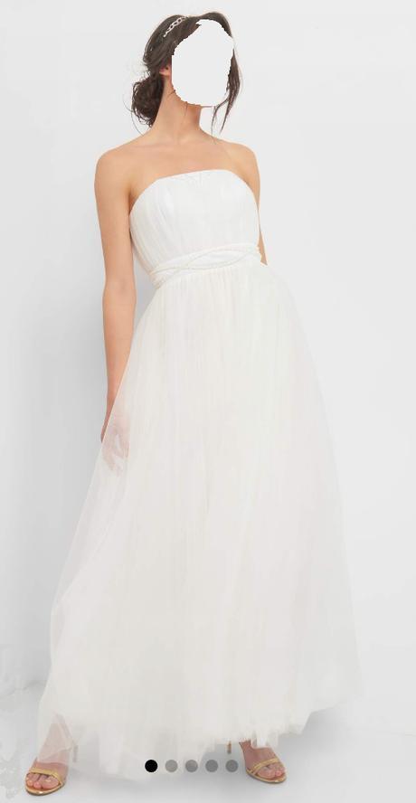 Nepoužité bílé svatební šaty (vel. 34, spíše ale 36!) - Obrázek č. 1