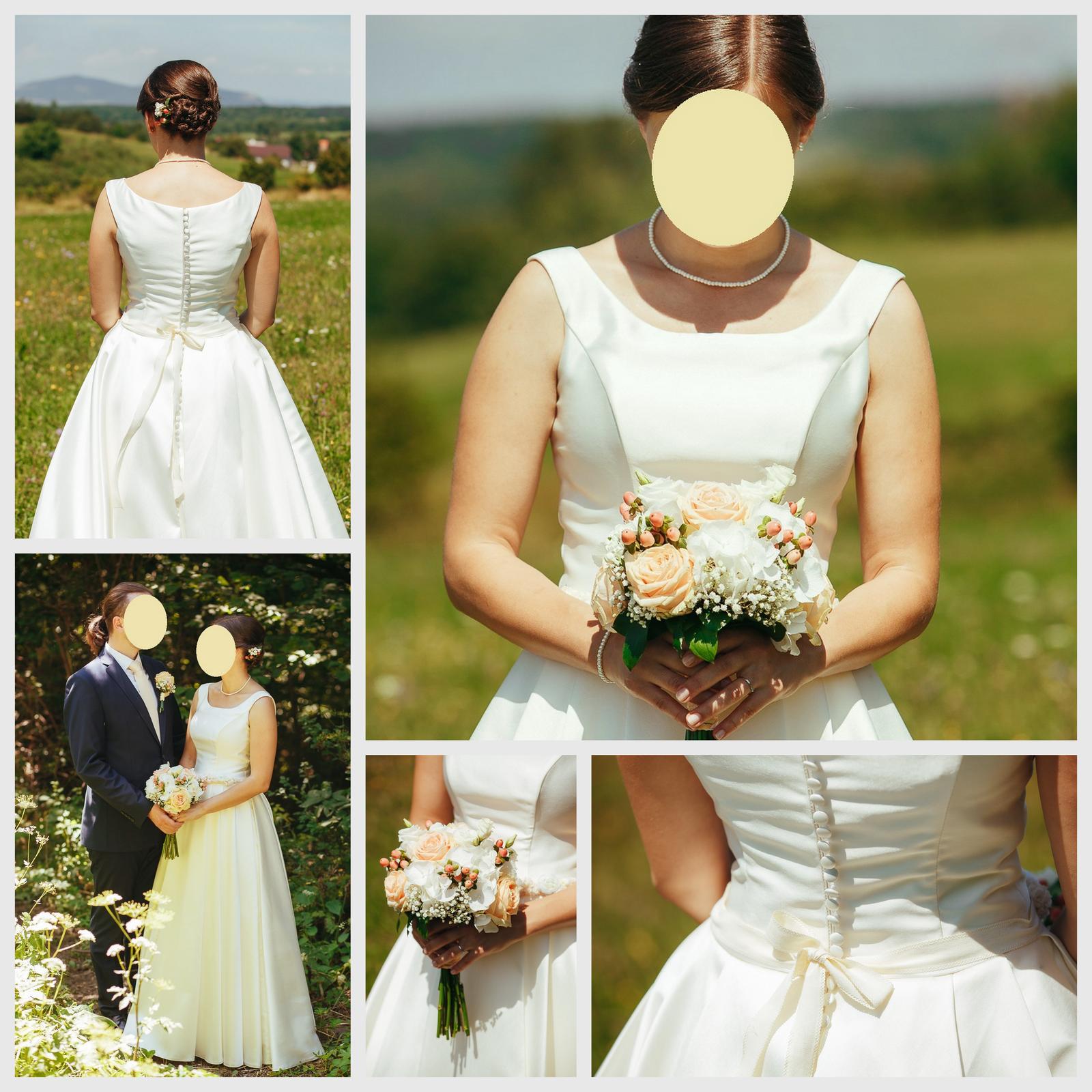 Svadobné šaty na predaj - veľmi pohodlné a krásne jednoduché - Obrázok č. 1