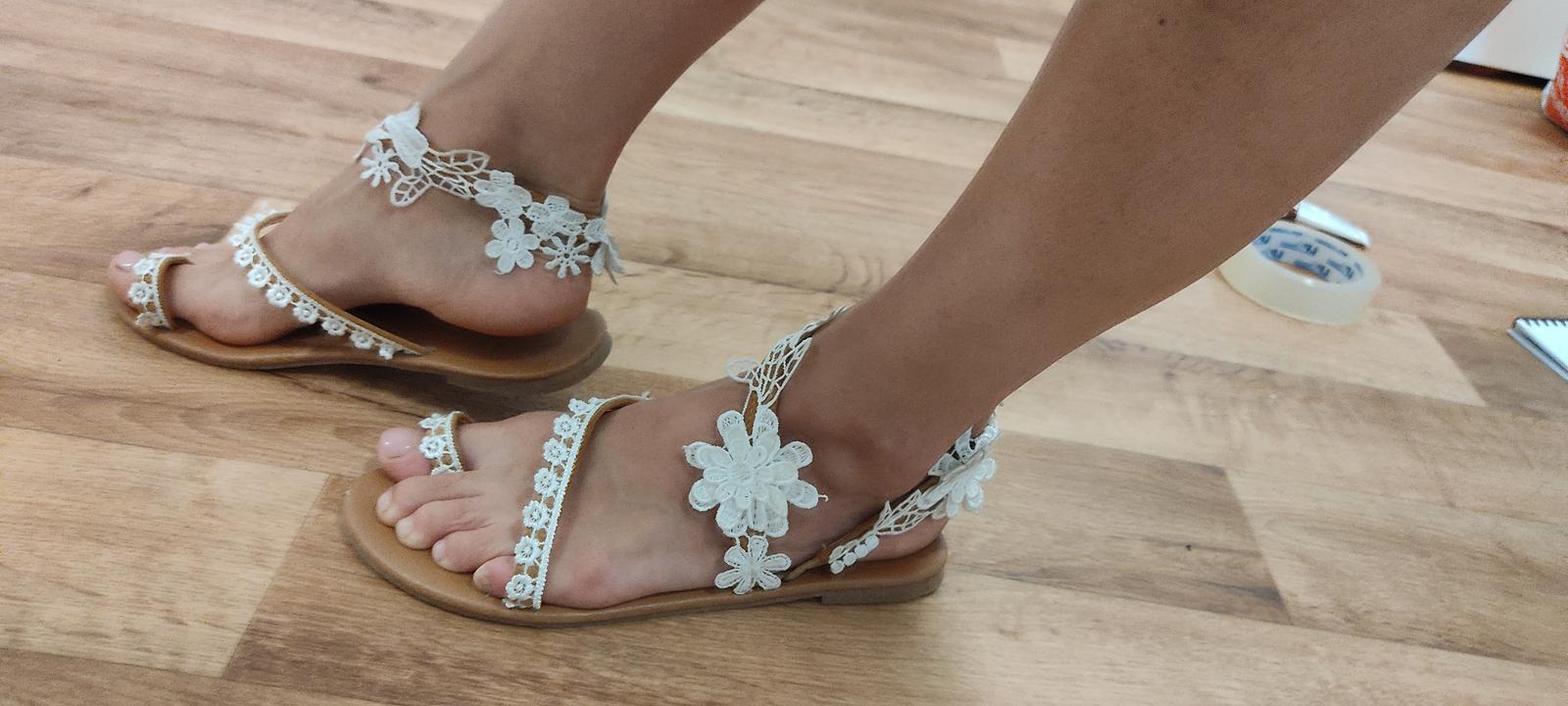Svatební sandálky - Obrázek č. 1