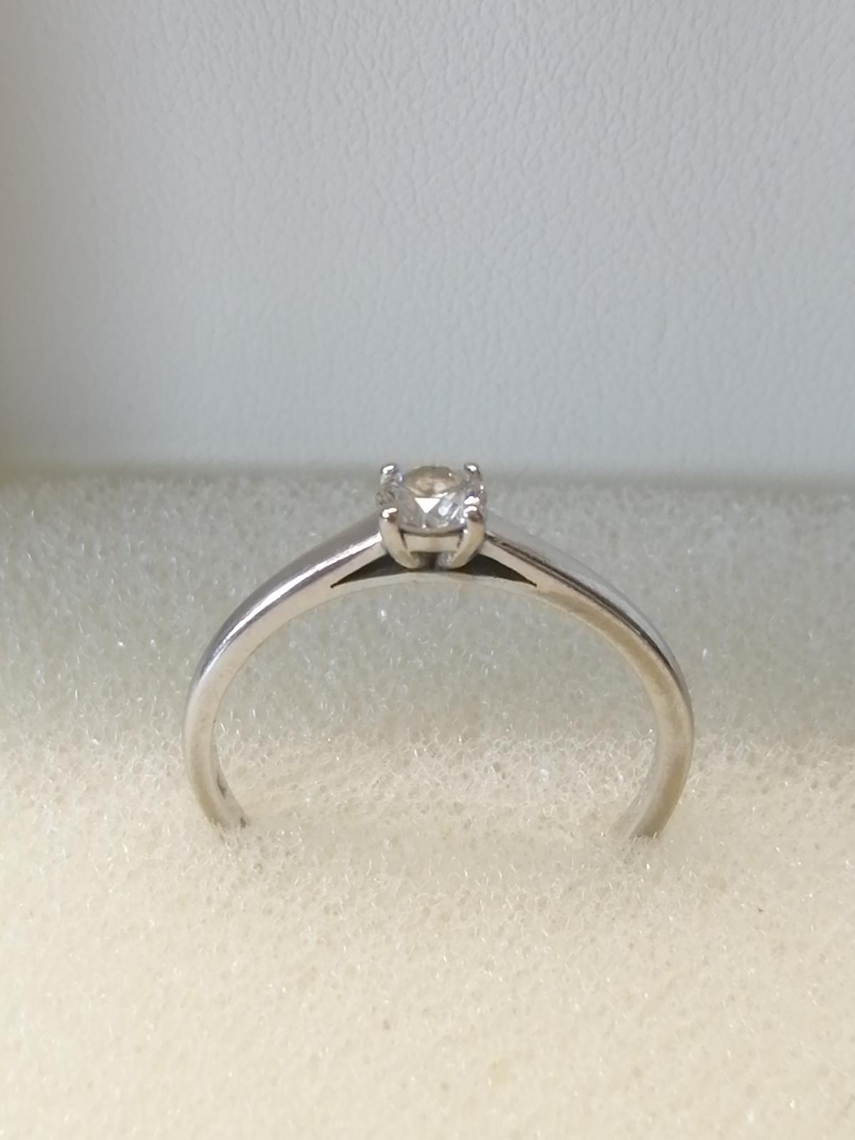 Prsten (Biele zlato+diamant) - Obrázok č. 1