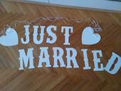 Svadobna girlanda Just Married,
