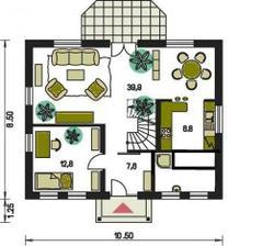 Modifikacia katalogoveho domu Prodom Kompakt 45 verzia 1