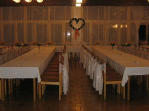 takto sme mali vyzdobenú sálu