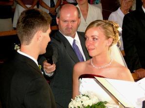 mladomanželský sľub fúúúú, tam som si poplakala