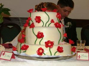 svadobná torta, fúúúúúú tá bola dobráá