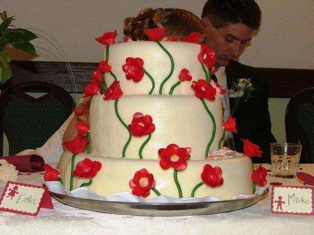 Evka{{_AND_}}Mirek - svadobná torta, fúúúúúú tá bola dobráá