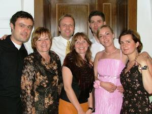 Tom, Anne Lene, Denis, maminka, Sylvinka a my dvaja ... Rori is sleeping :-)
